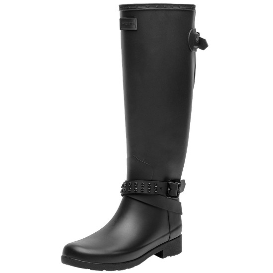 Hunter Refined Back Adjustable Tall Ankle Strap WFT2003RMA BLK
