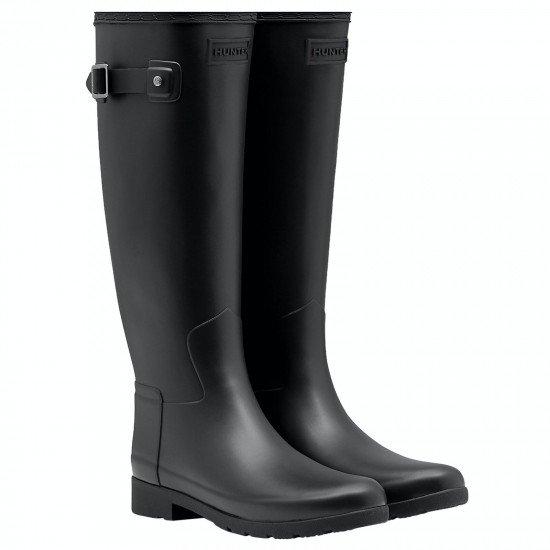 Hunter Original Refined WFT1071RMA BLK Negro - Mujer - Maskezapatos
