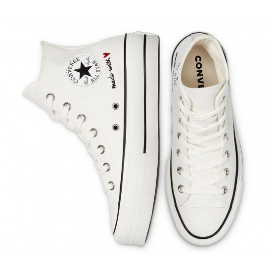 Converse Love Thread Platform Chuck Taylor All Star High Top 571119C 102 - Mujer - Maskezapatos